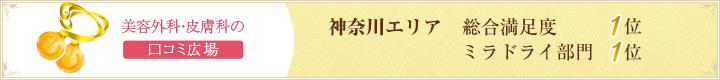 神奈川エリアミラドライ部門1位