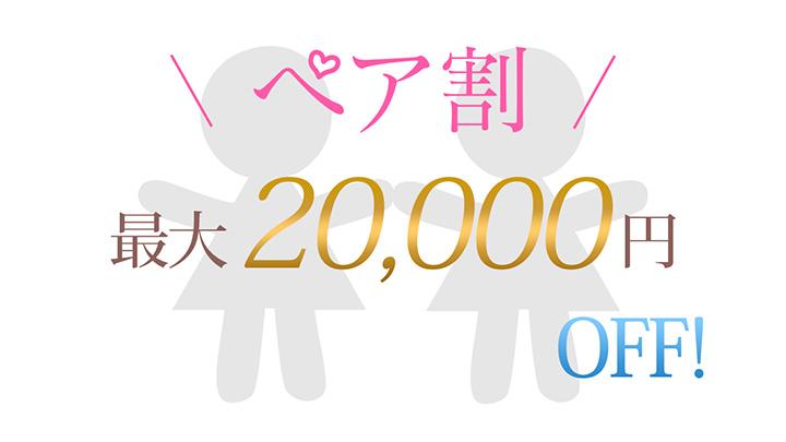 ペア割最大2万円OFF